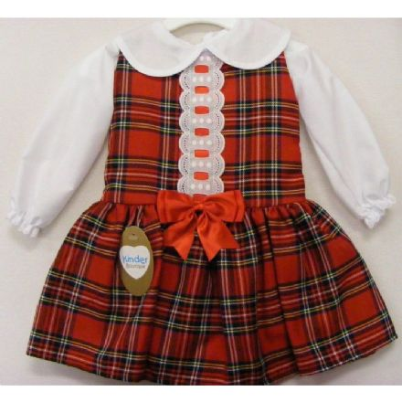 Tartan Pinafore Two Piece